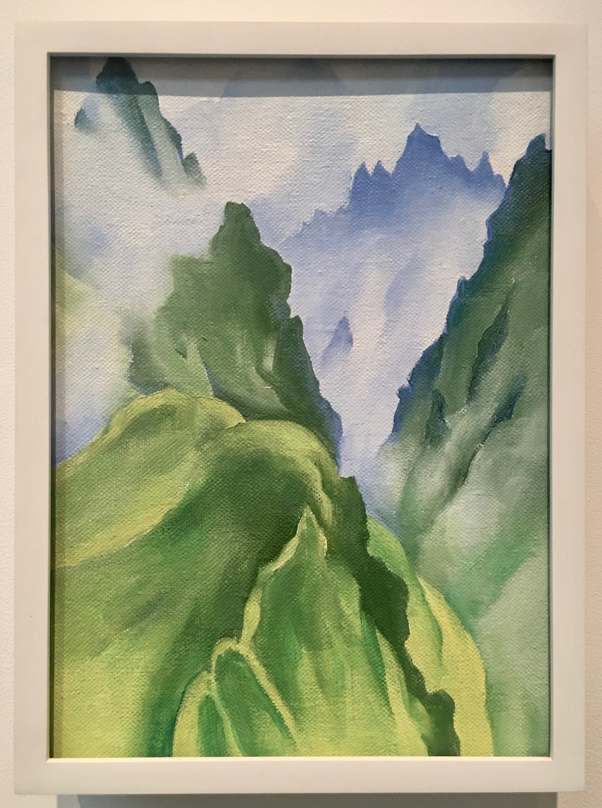 Georgia O'Keefe, Machu Picchu 1, 1957, Oil on Canvas