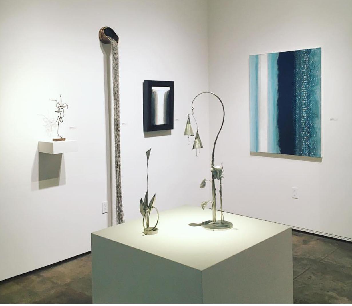 "Sidney Gordin, Ken Bortolazzo, Joseph Goldyne and Julika Lackner in the ""Winter Salon Show"""