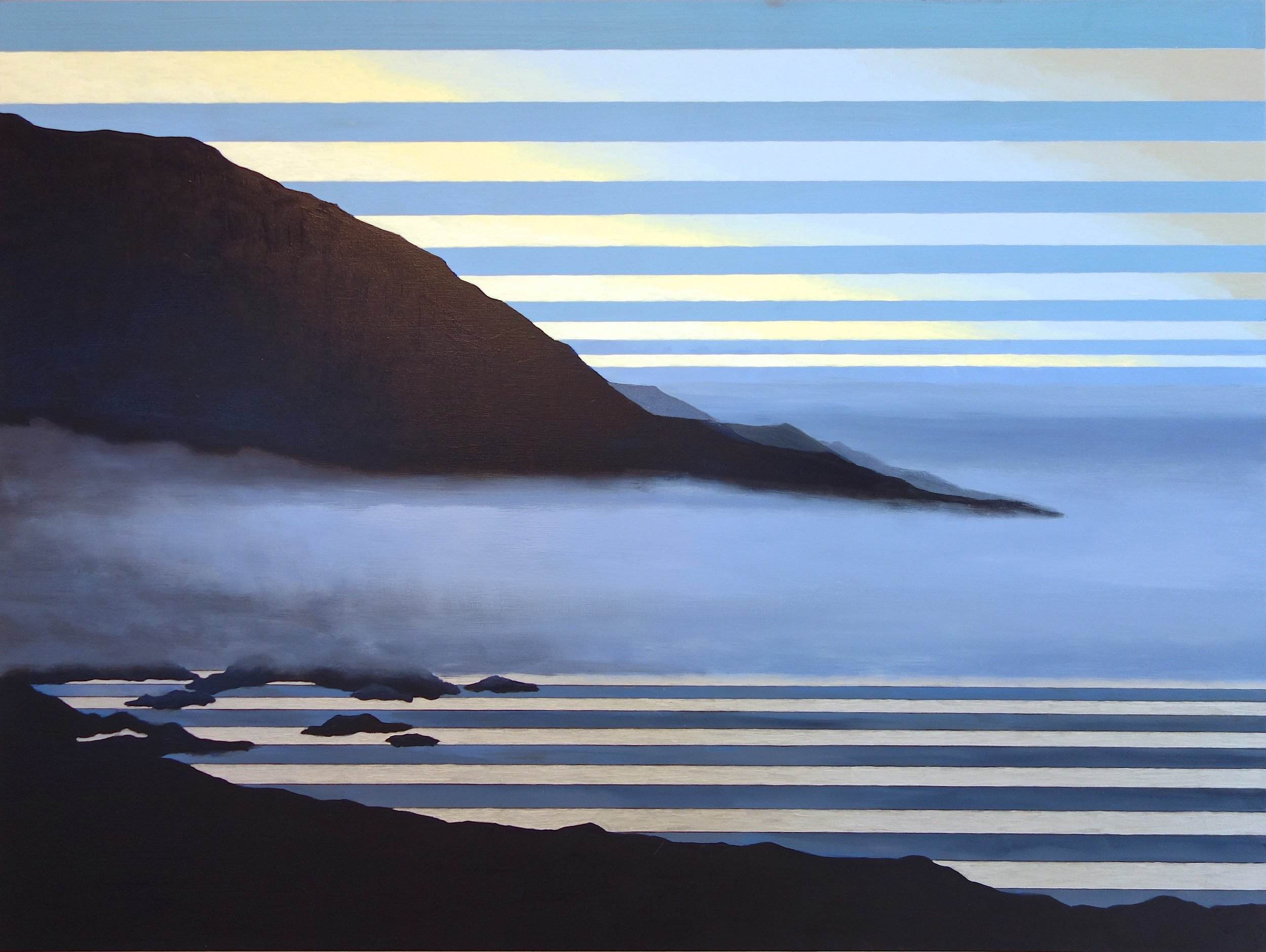 "Big Sur at Early Dawn. 2017. Oil on Canvas. 36""x48"""