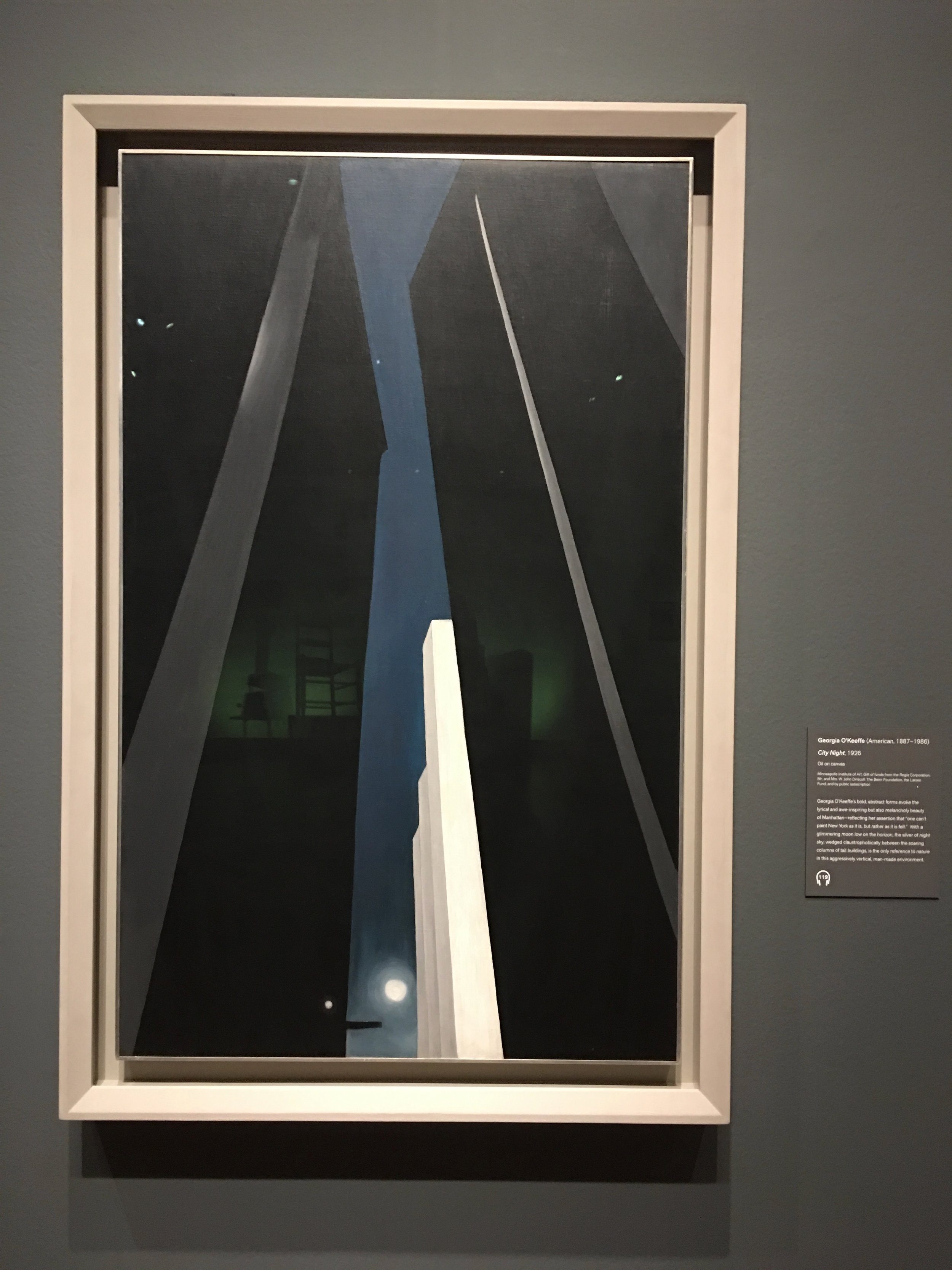 "Georgia O'Keefe, ""East River from the 30th Story of the Shelton Hotel"", 1928, Oil on Canvas"