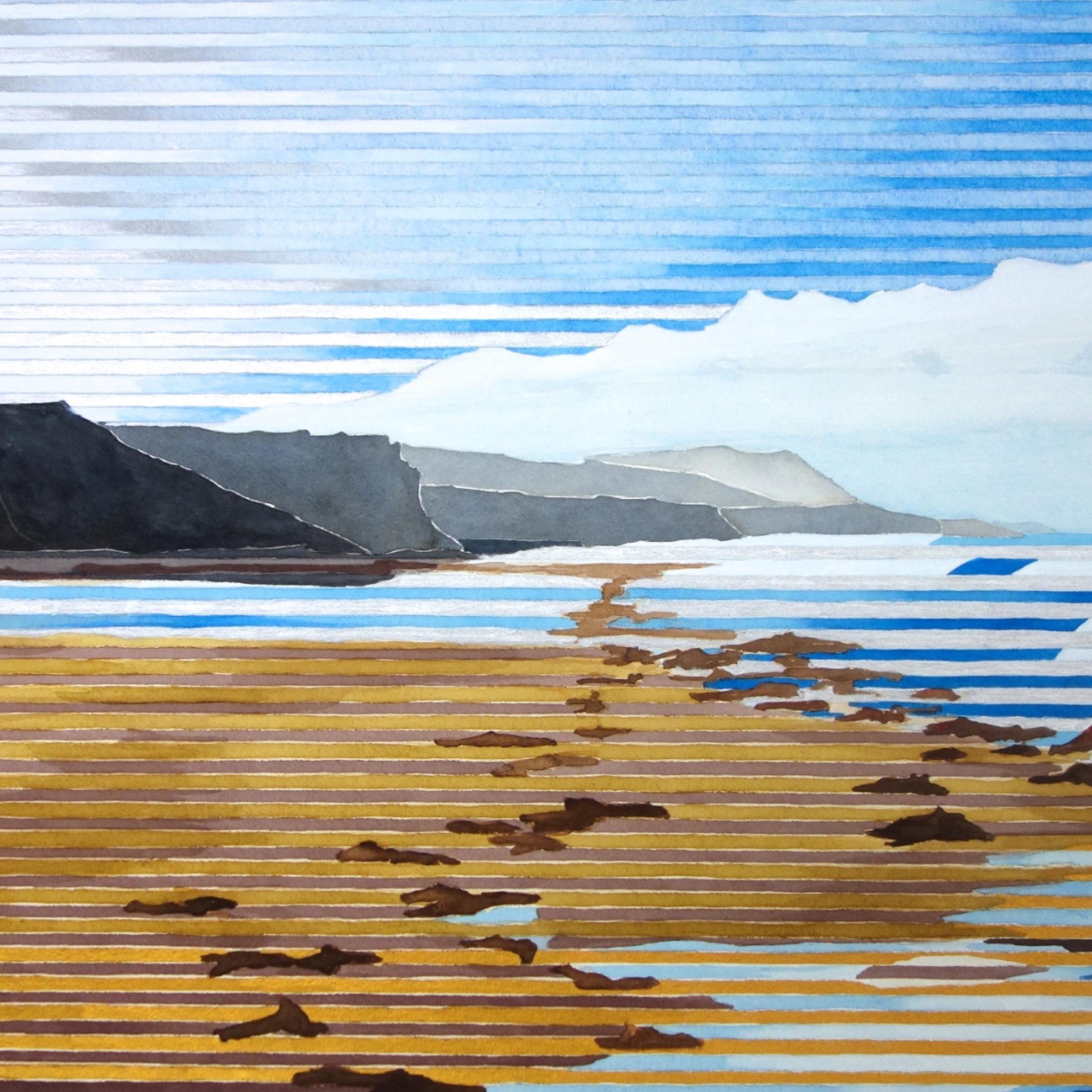 2015-18: Linear Landscapes Watercolors