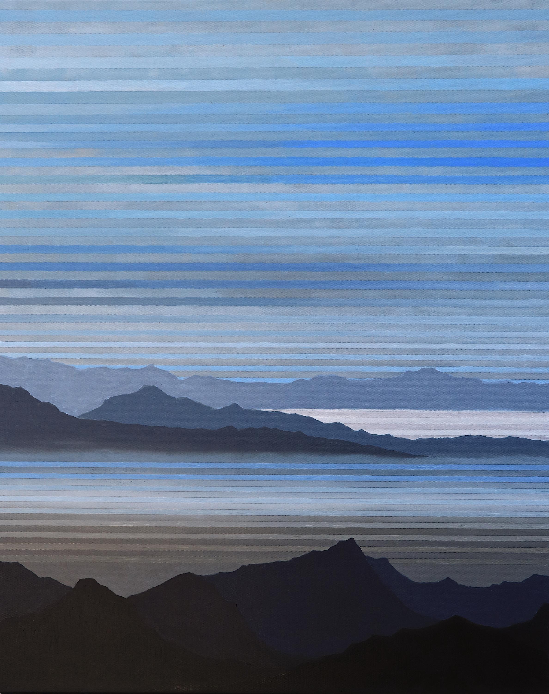 """Salton Sea. 2019. Acrylic and Oil on Canvas. 30""""x24"""""""
