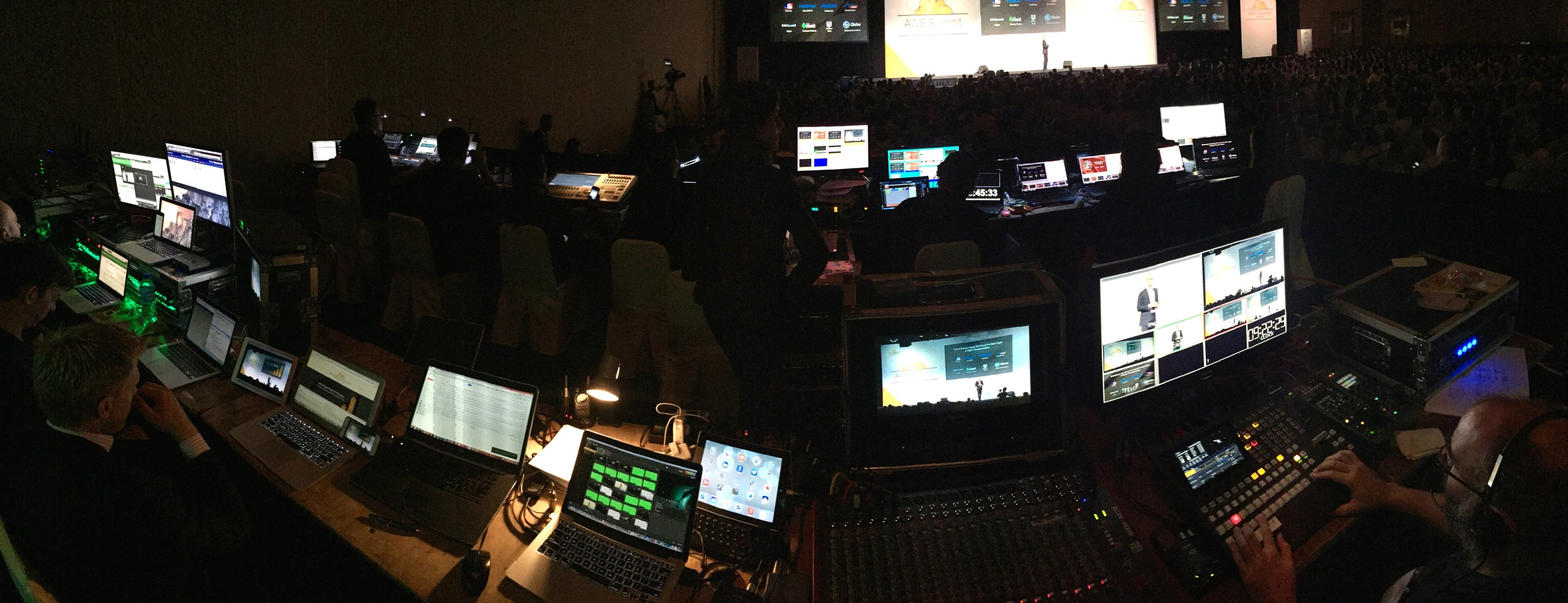 The Deck's vision control alongside VioCorp's streaming tech and ETG's front-of-house setup.