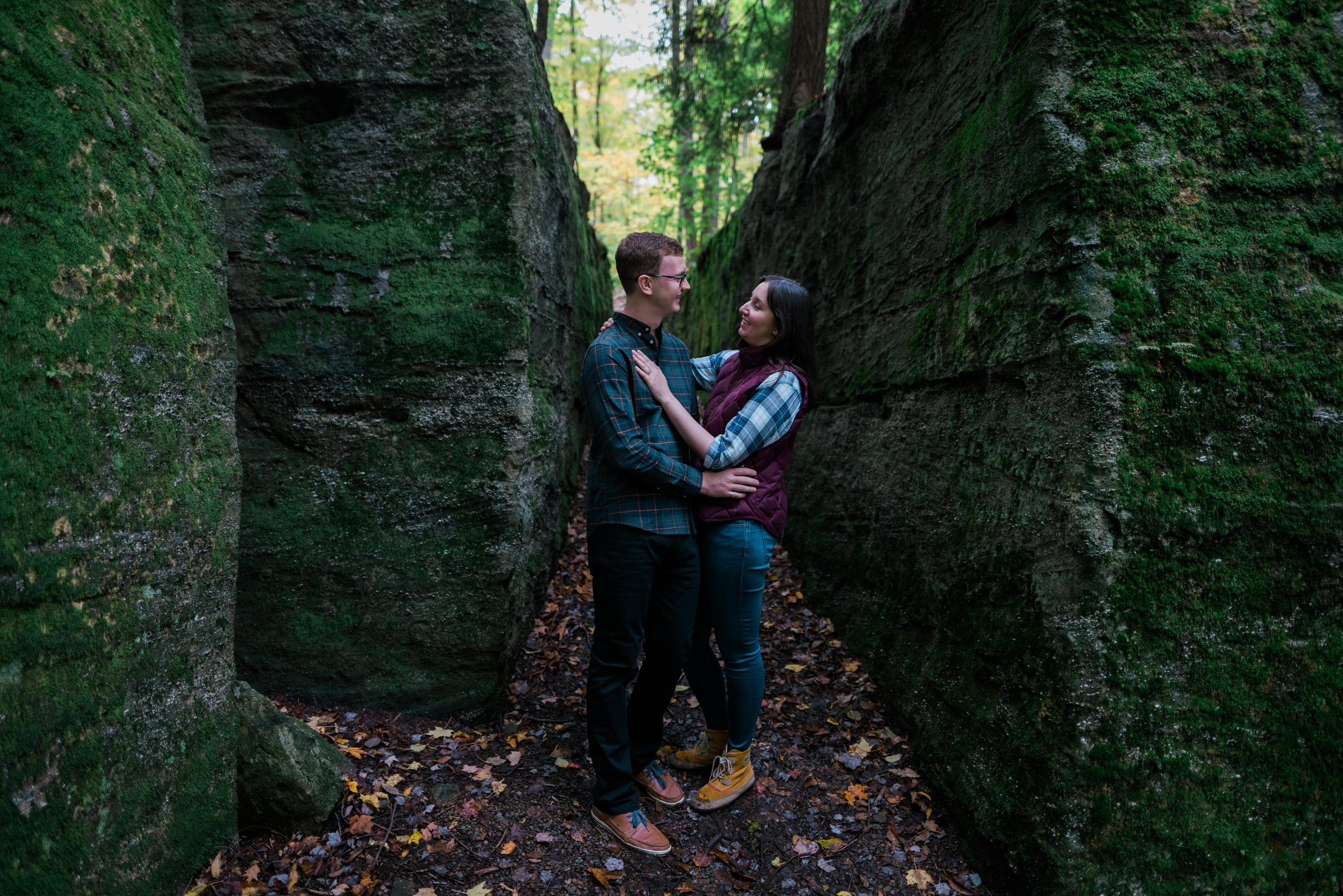 Jessica and JR Engagement Photography by Stefan Ludwig at Rock City State Park in Ellicottville, NY-19.jpg