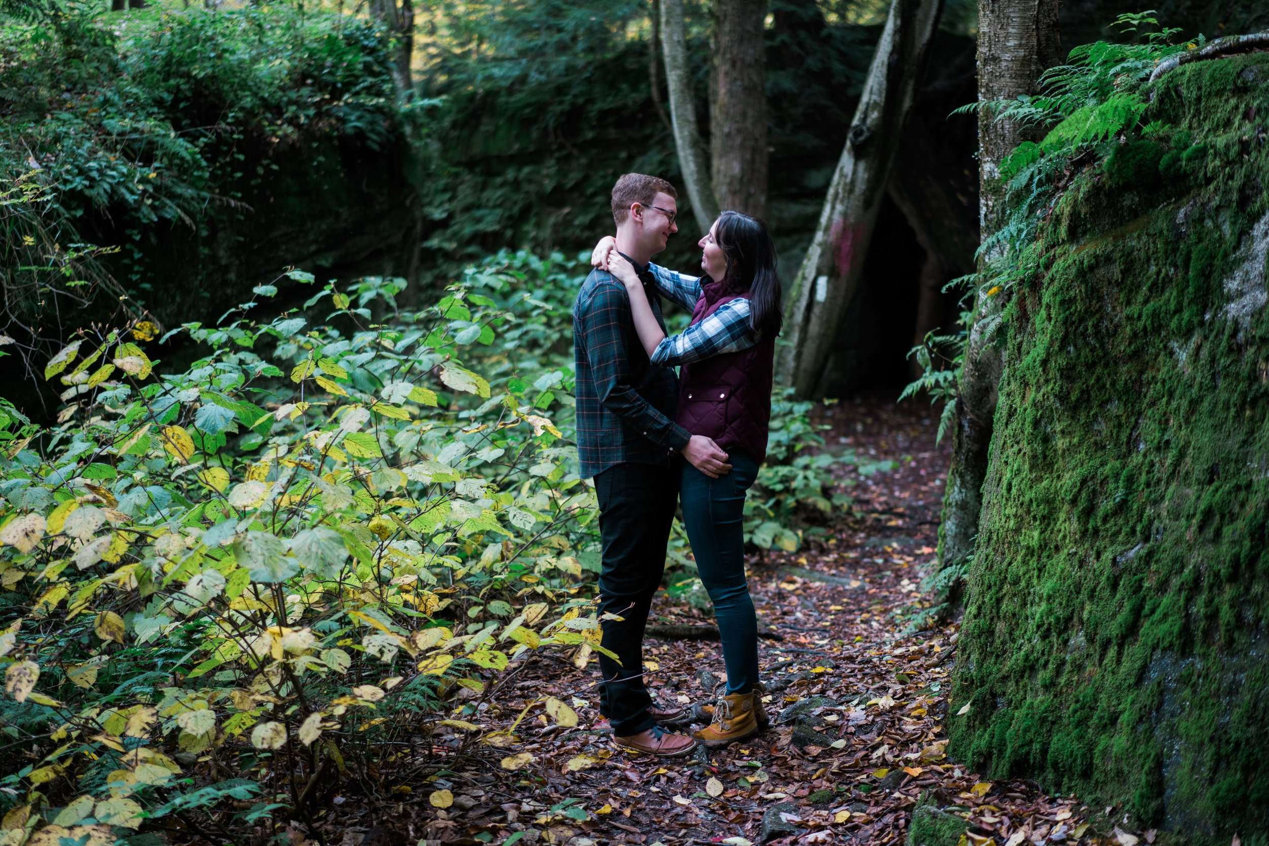 Jessica and JR Engagement Photography by Stefan Ludwig at Rock City State Park in Ellicottville, NY-37.jpg