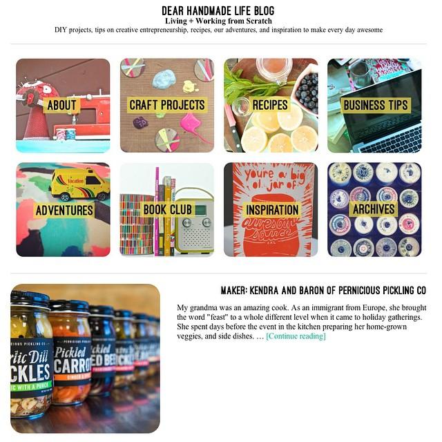 Dear Handmade Life , Maker Profile (August 2014)