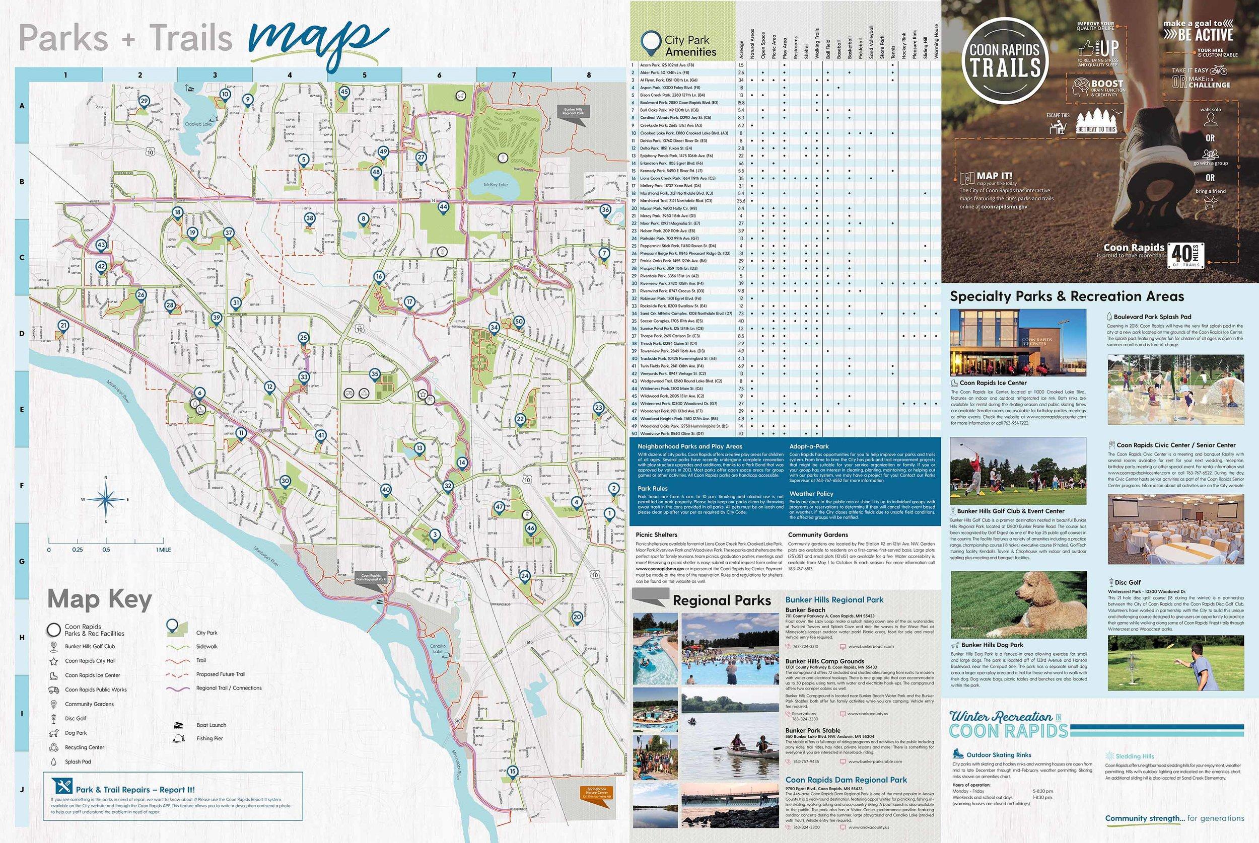 Coon Rapids Parks & Trails Map
