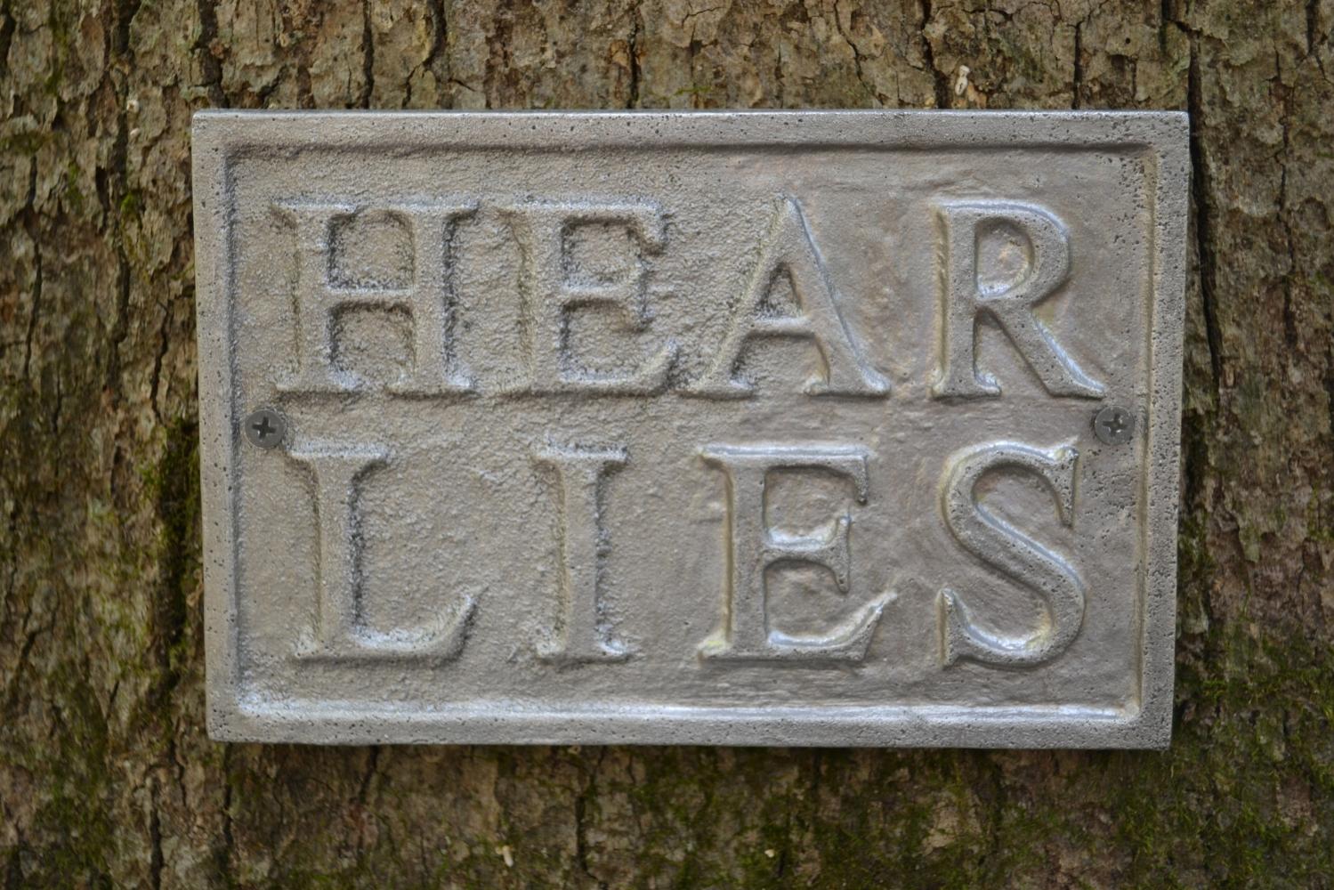 Hear Lies (detail)