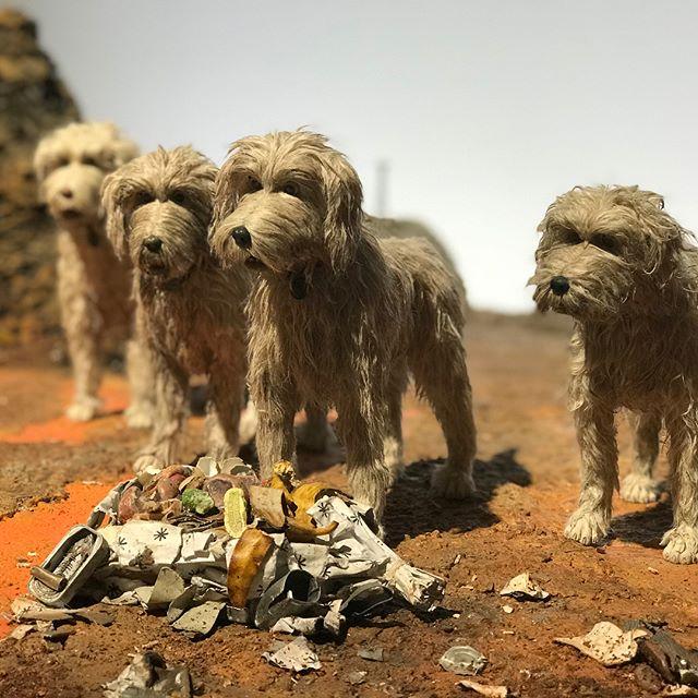 Lovely exhibition of models from #isleofdogs  #dayoutwiththekids #modelmaking #film