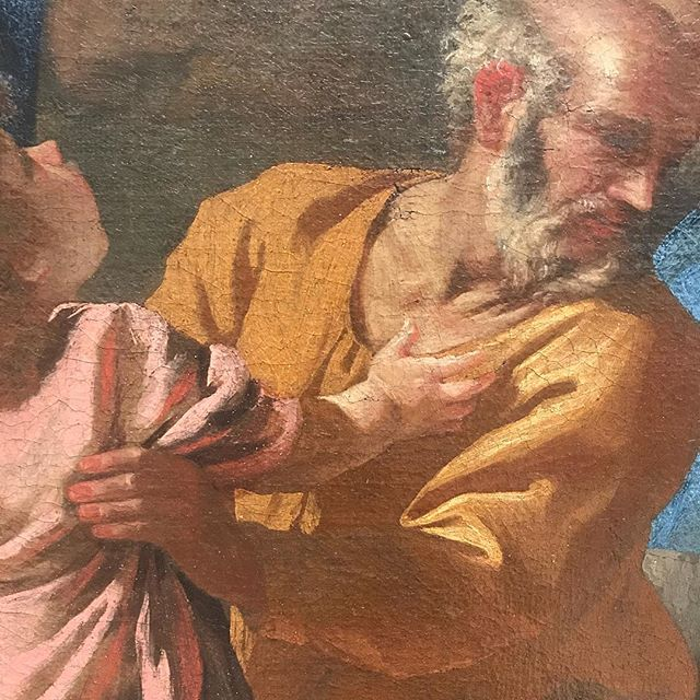 Detail from #poussin 'The Return of the Holy Family From Egypt' @dulwichgallery #fatherandson