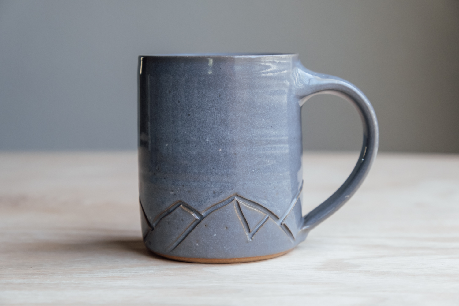 """Mountain Mug - Stone   $16.50 Wholesale   $28 MSRP  Approx. 3.75"""" tall x 3.25"""" wide, 12 oz"""