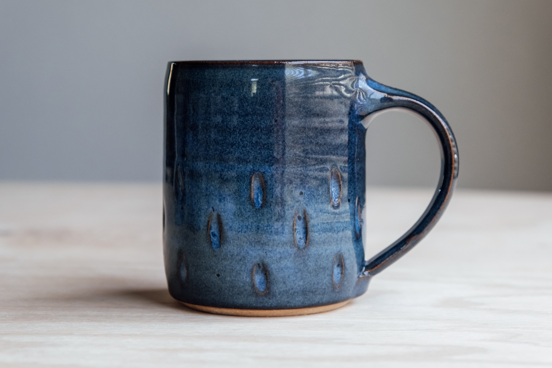"""Teardrop Mug - Seaside   $16.50 Wholesale   $28 MSRP  Approx. 3.75"""" tall x 3.25"""" wide, 12 oz"""