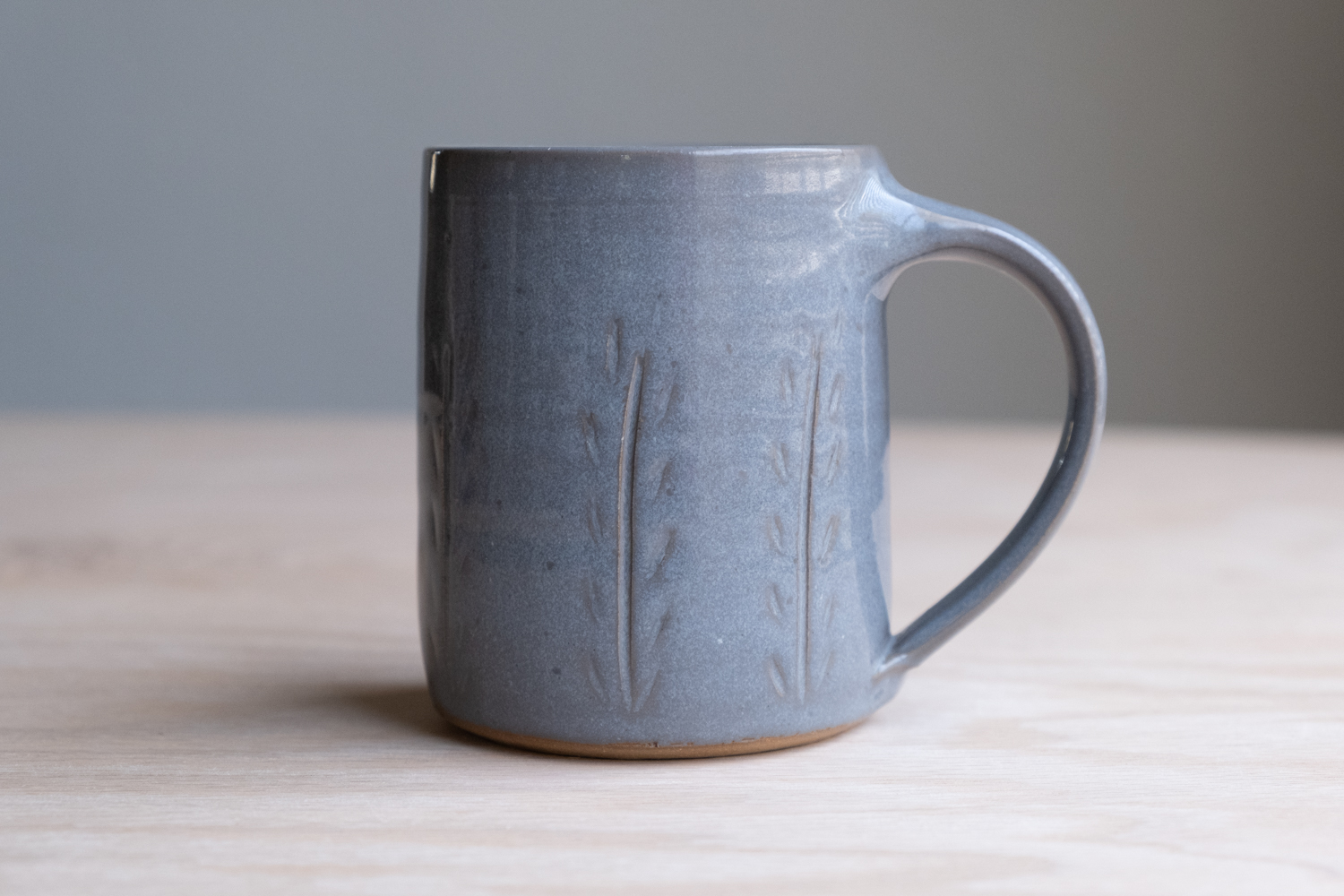 """Meadow Mug - Stone   $16.50 Wholesale   $28 MSRP  Approx. 3.75"""" tall x 3.25"""" wide, 12 oz"""