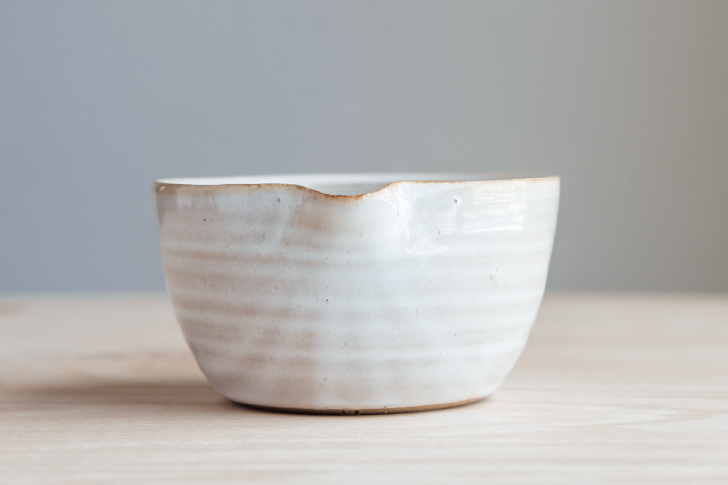 """Small Mixing Bowl - Eggshell   $16.50 Wholesale   $28 MSRP  Approx. 3"""" tall x 5.25"""" wide"""