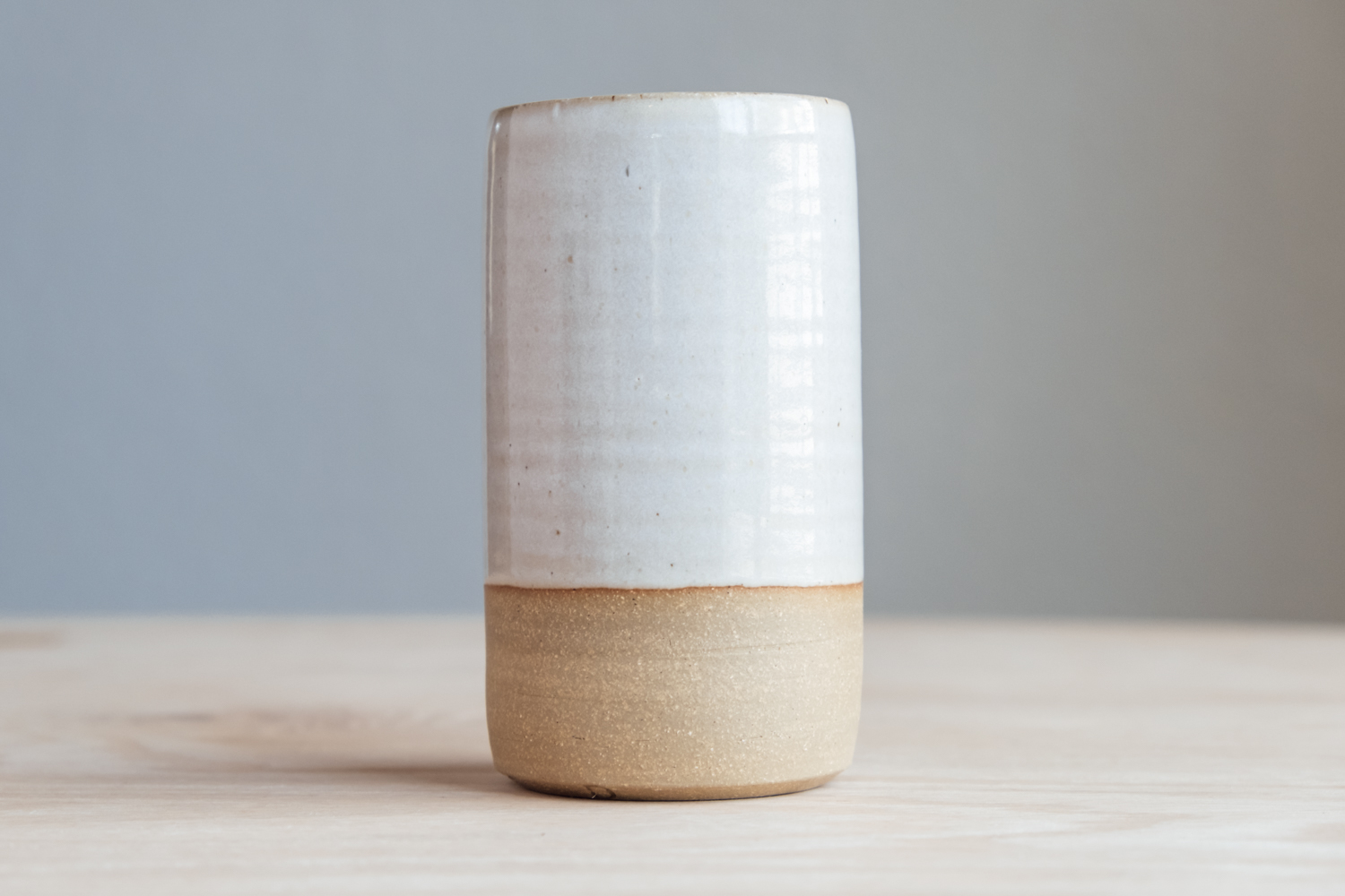 """Cylinder Vase - Eggshell   $19 Wholesale   $32 MSRP  Approx. 5.25"""" tall x 2.75"""" wide"""
