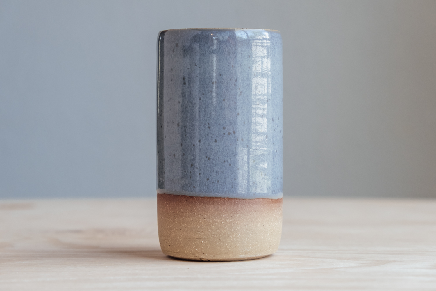 """Cylinder Vase - Stone   $19 Wholesale   $32 MSRP  Approx. 5.25"""" tall x 2.75"""" wide"""