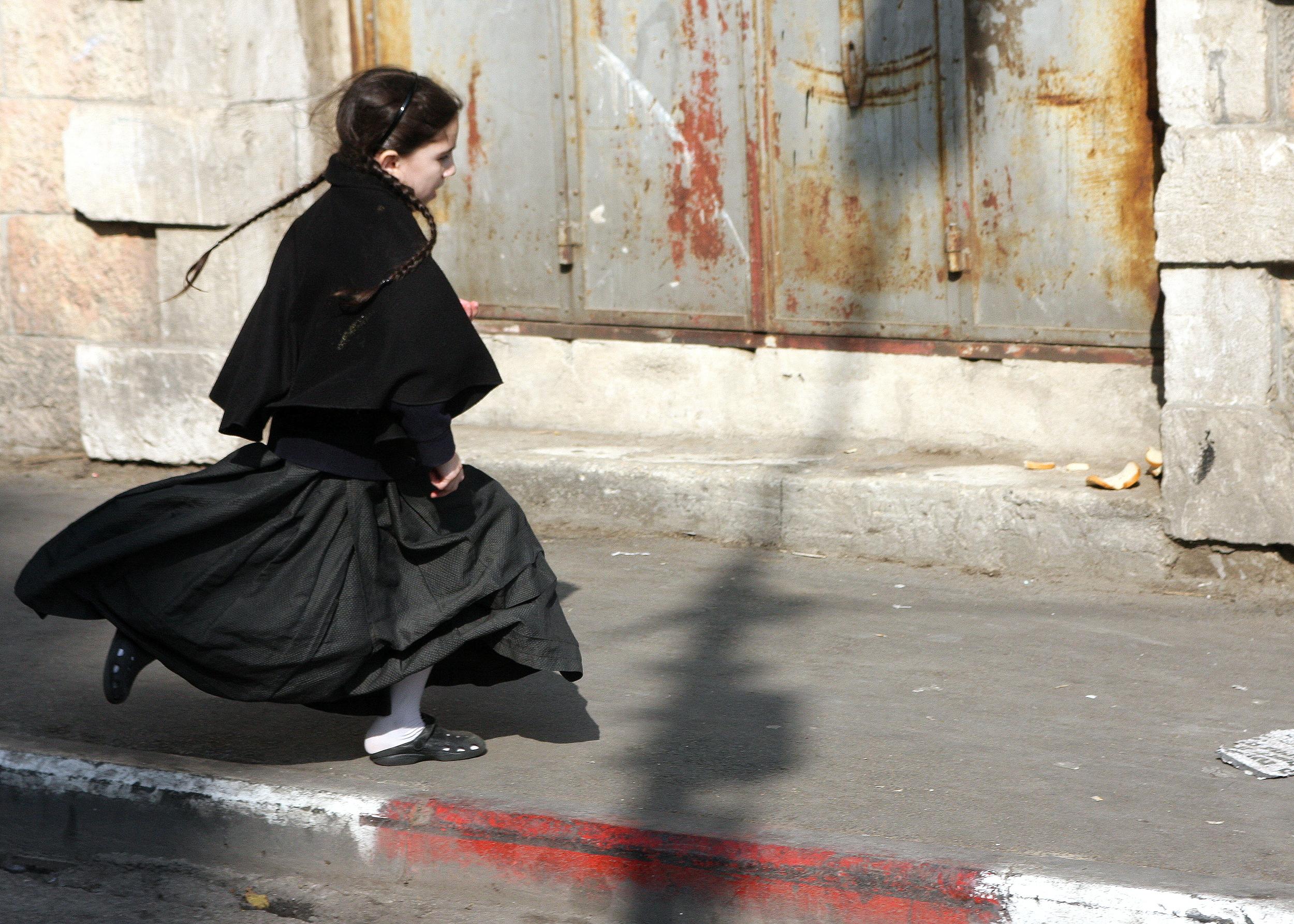 On Her Way -- in Mea Shearim