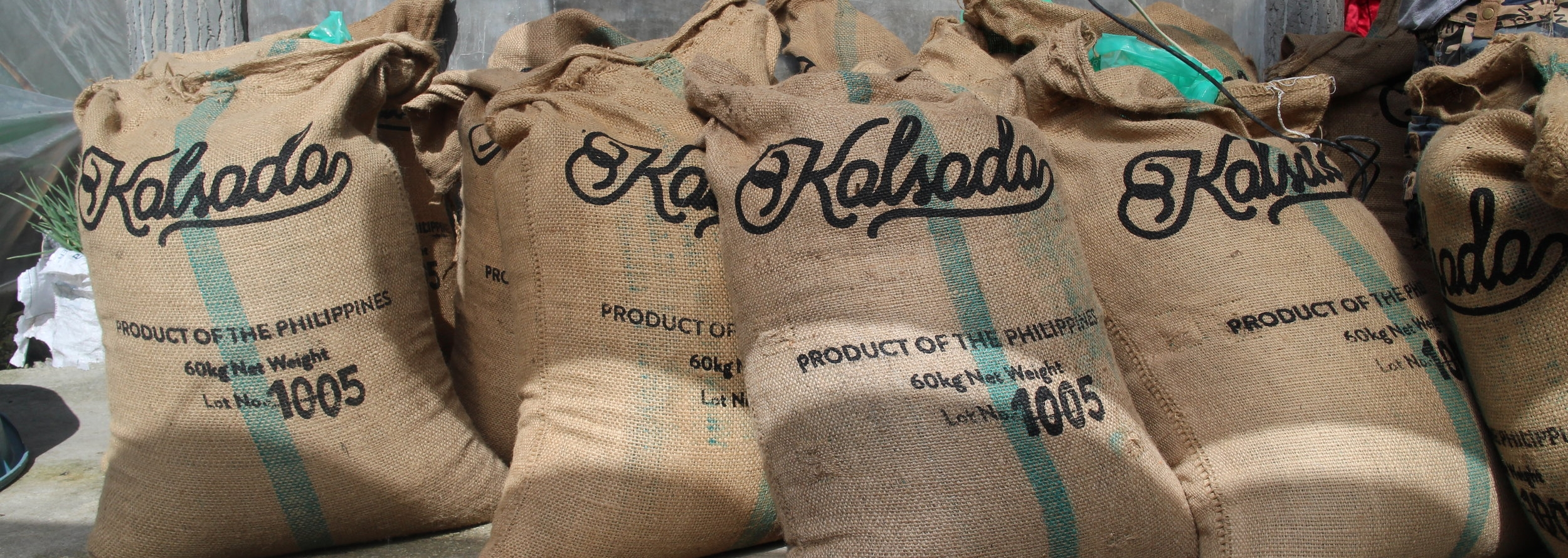 Kalsada coffee bags, ready for export.