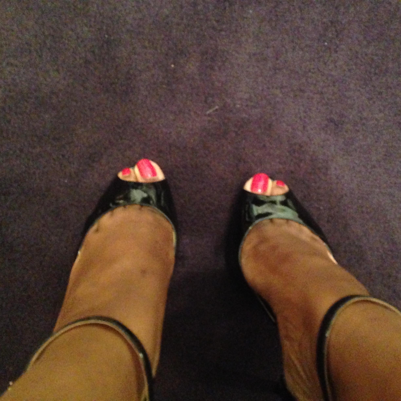 Danielle's Ivanka Trump ankle strap pumps!