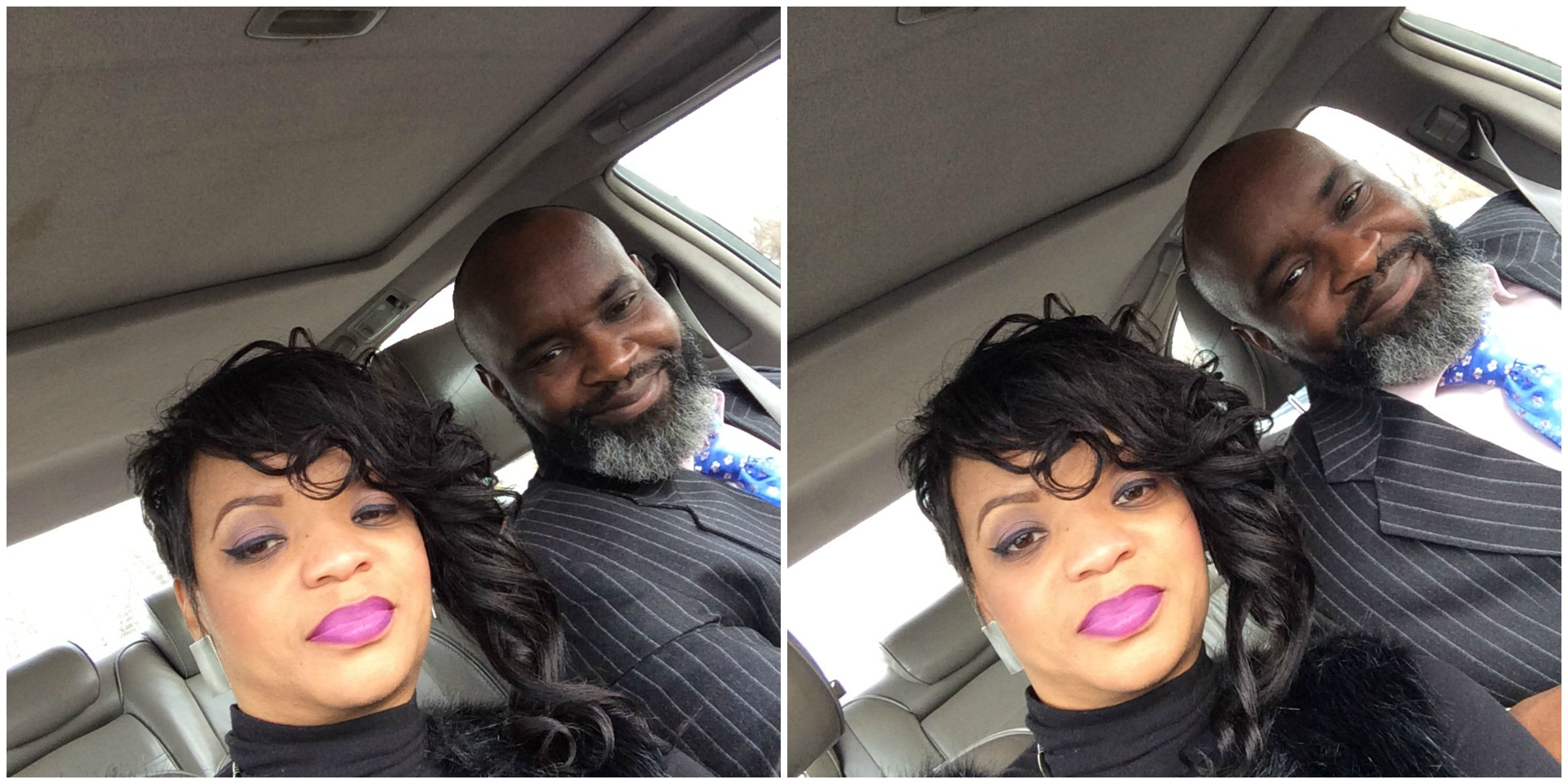 Me& Hubs after church! (I thank God for his patience and love)