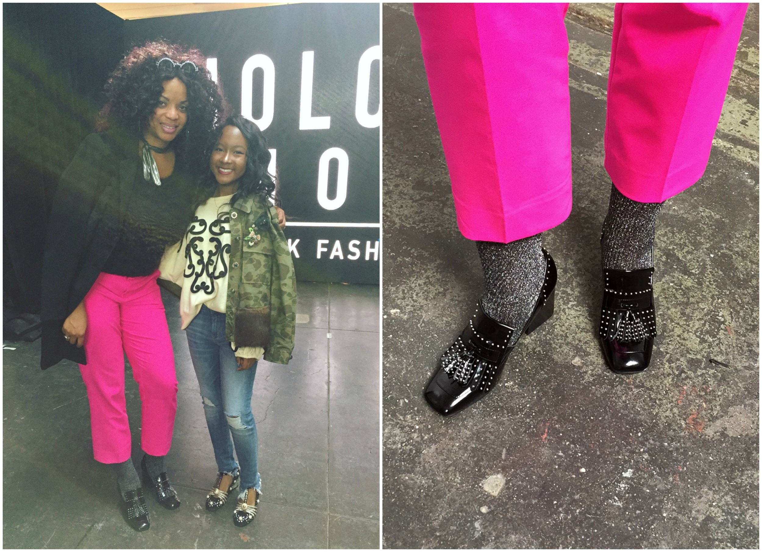 "This is me with actress Donshea Hopkins ""Raina"" from the hit series  Power  on STARZ! The Gucci flats Donshea was wearing were AMAZE btw!"