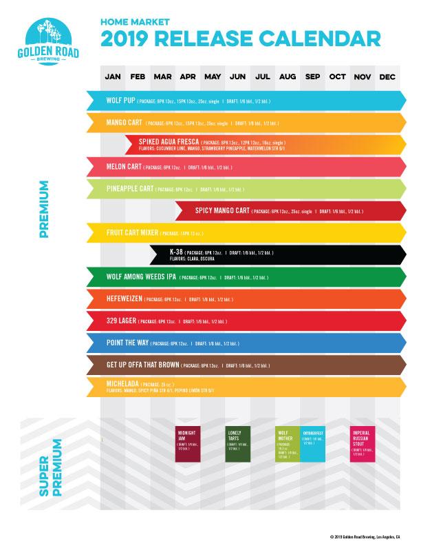 2019 Home Market Release Calendar —       PDF
