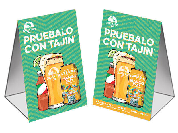 Spanish Table Tent —   PDF