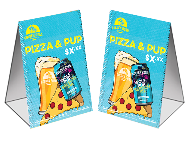 Pizza & Pup Table Tent w/Price –   PDF