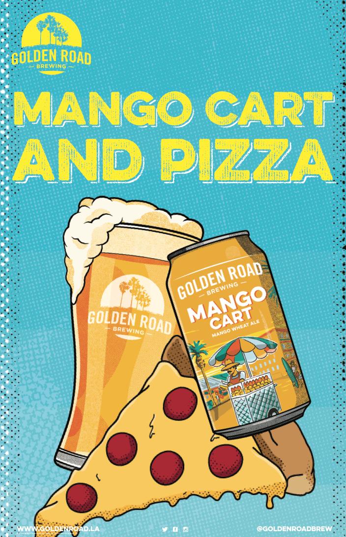 "Mango Cart & Pizza Poster 11"" x 17""  –  PDF"