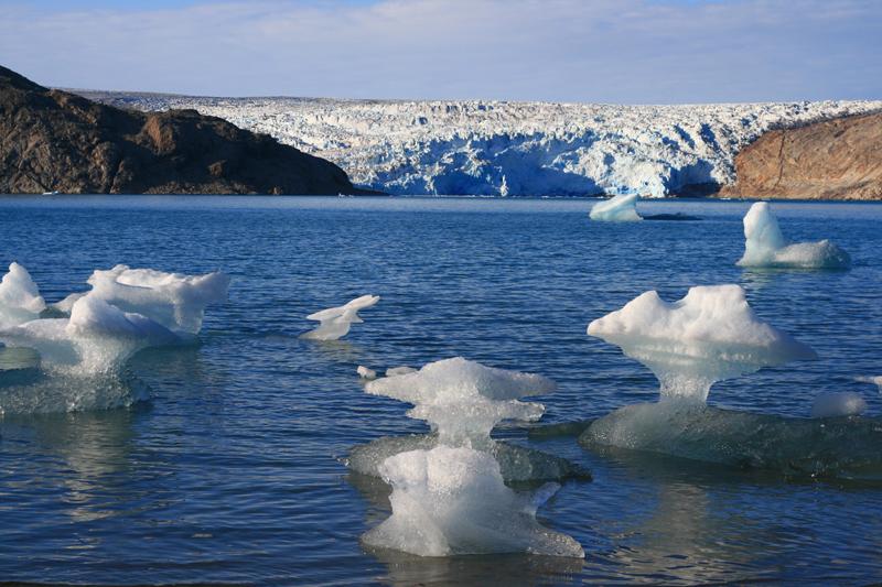 Frente Glaciar, sur de Groenlandia