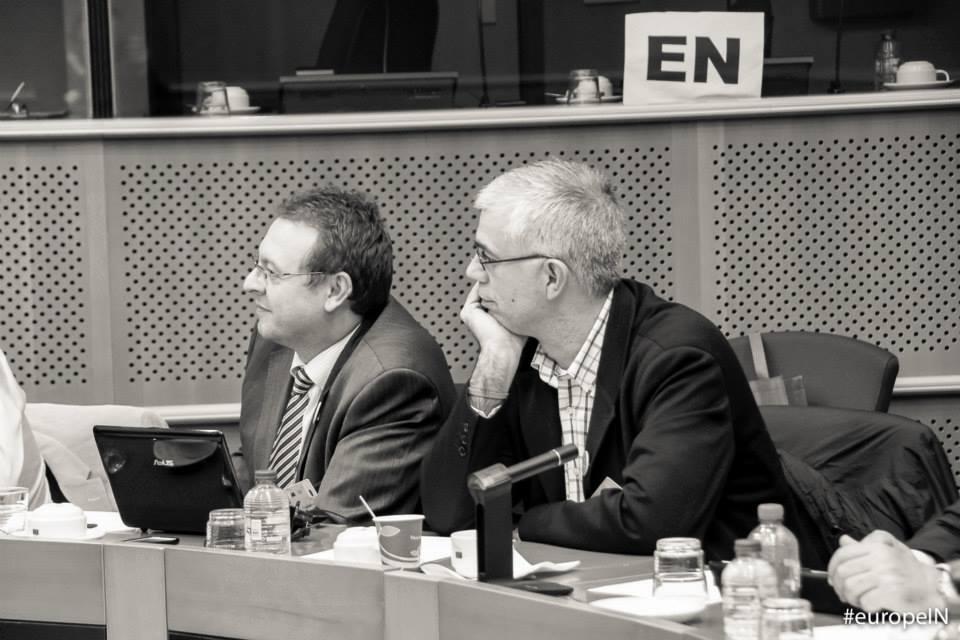 Alfredo Vela en el Parlamento Europeo.