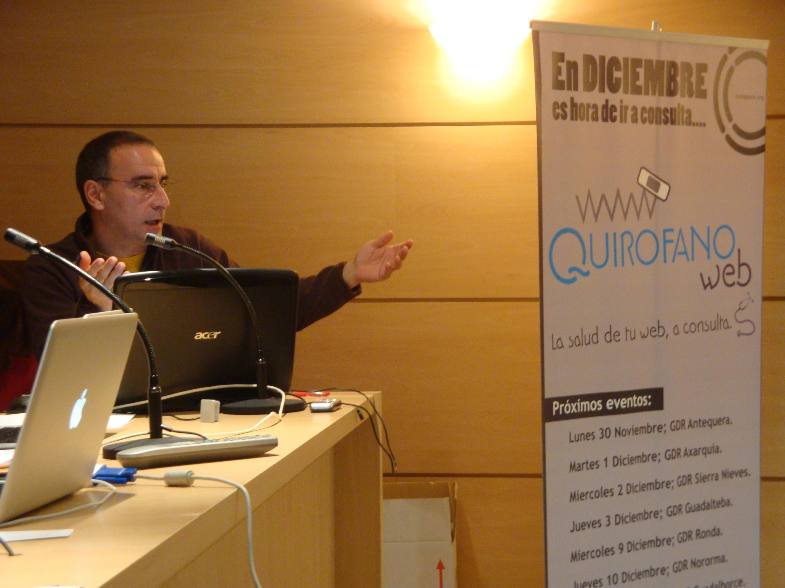 Javier Castaño en el evento Quirófano web.