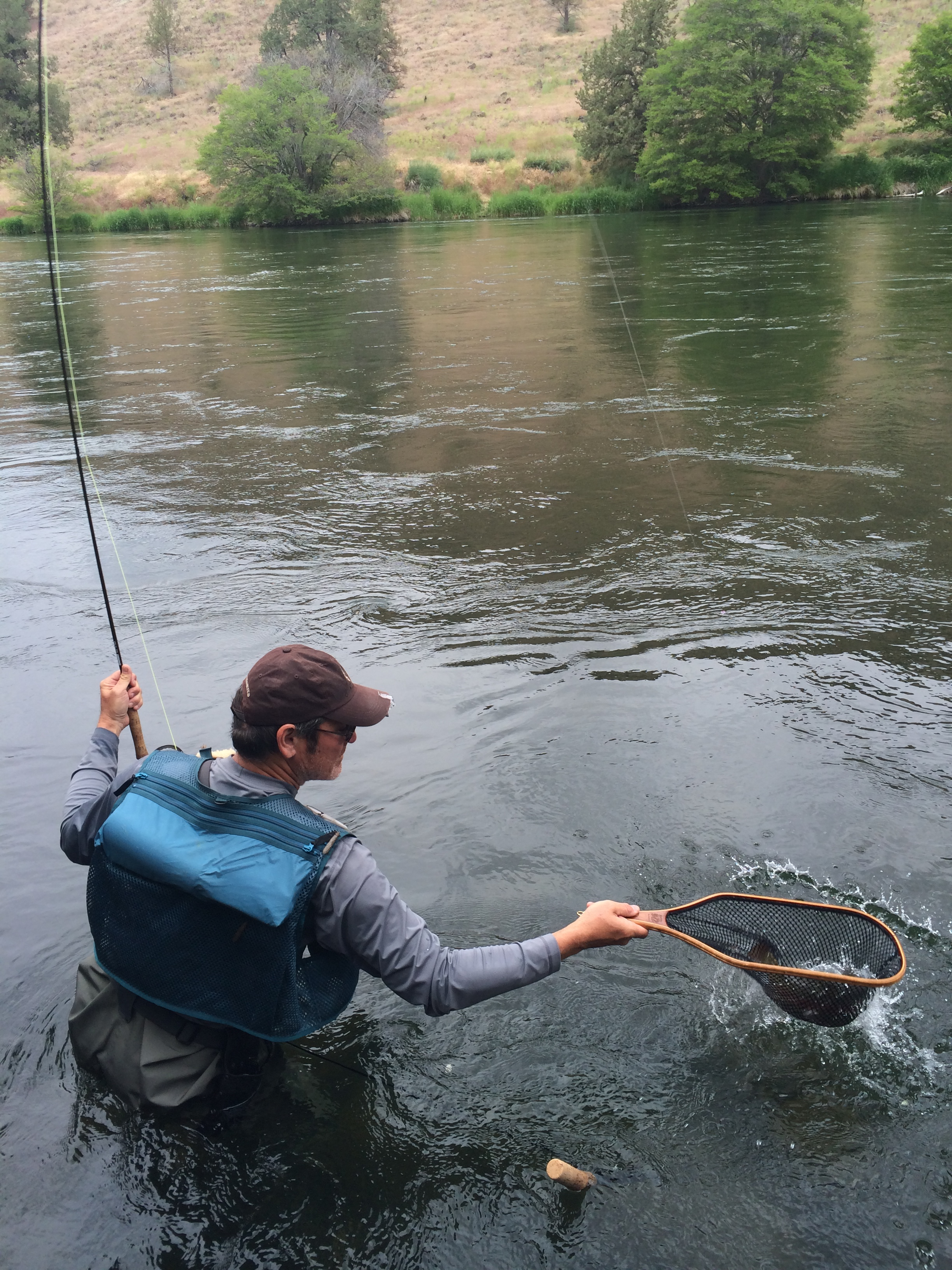 A classic moment in fly fishing.
