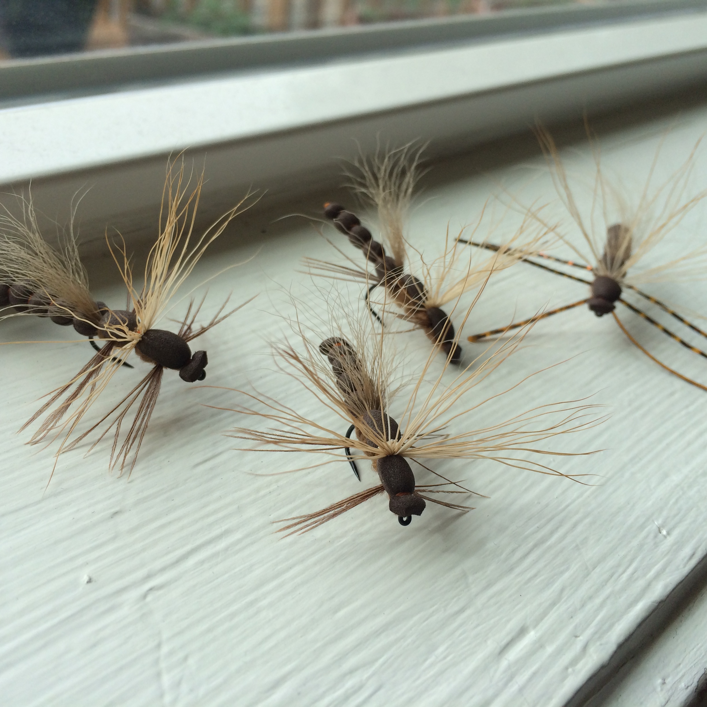 A few variations of the Daddy Longlegs, a salmonfly pattern I developed about seven years ago.