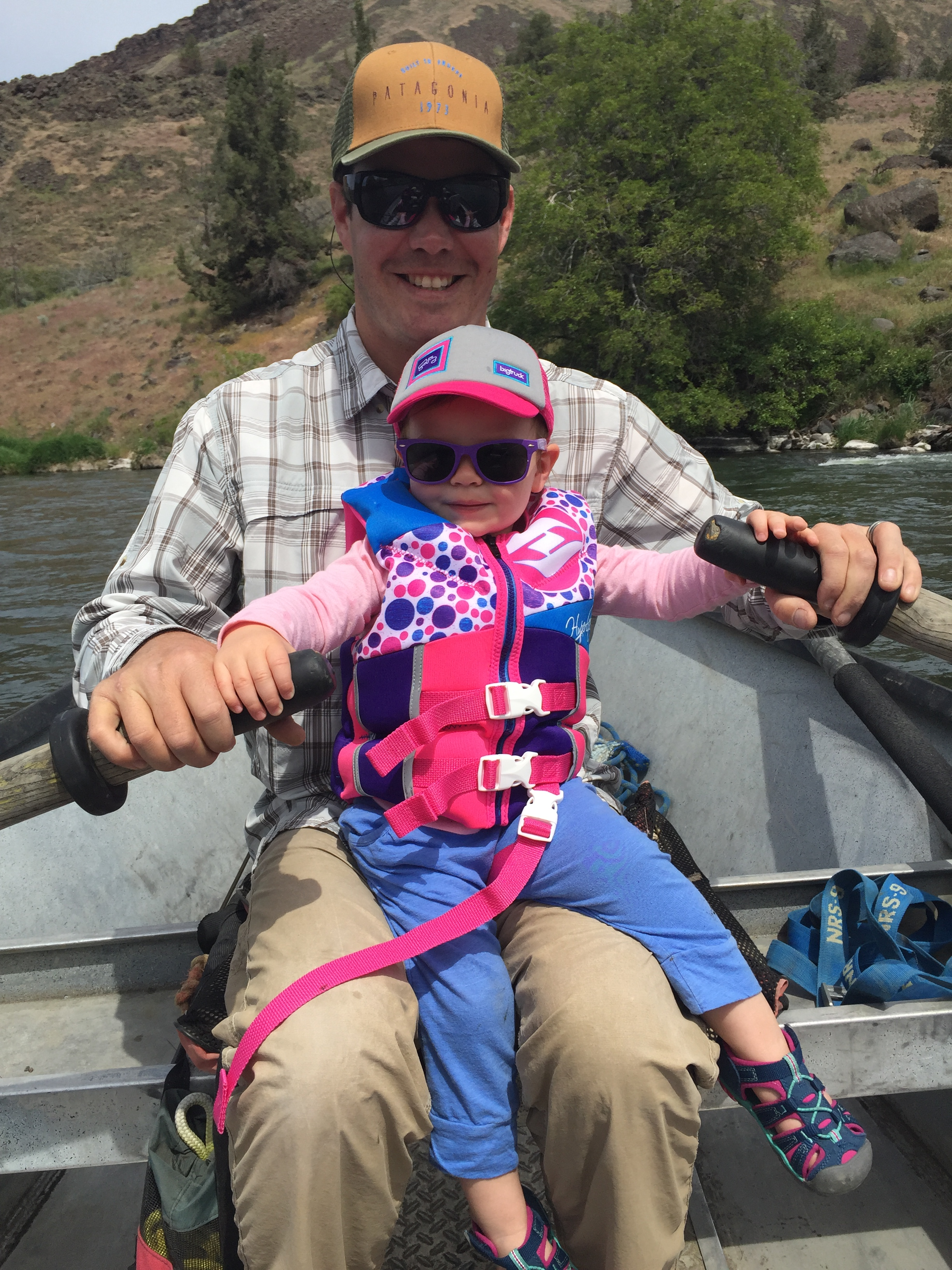 Daddy and daughter on the Deschutes