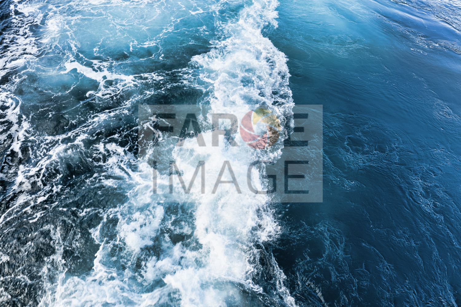 Whirlpool of ships propeller