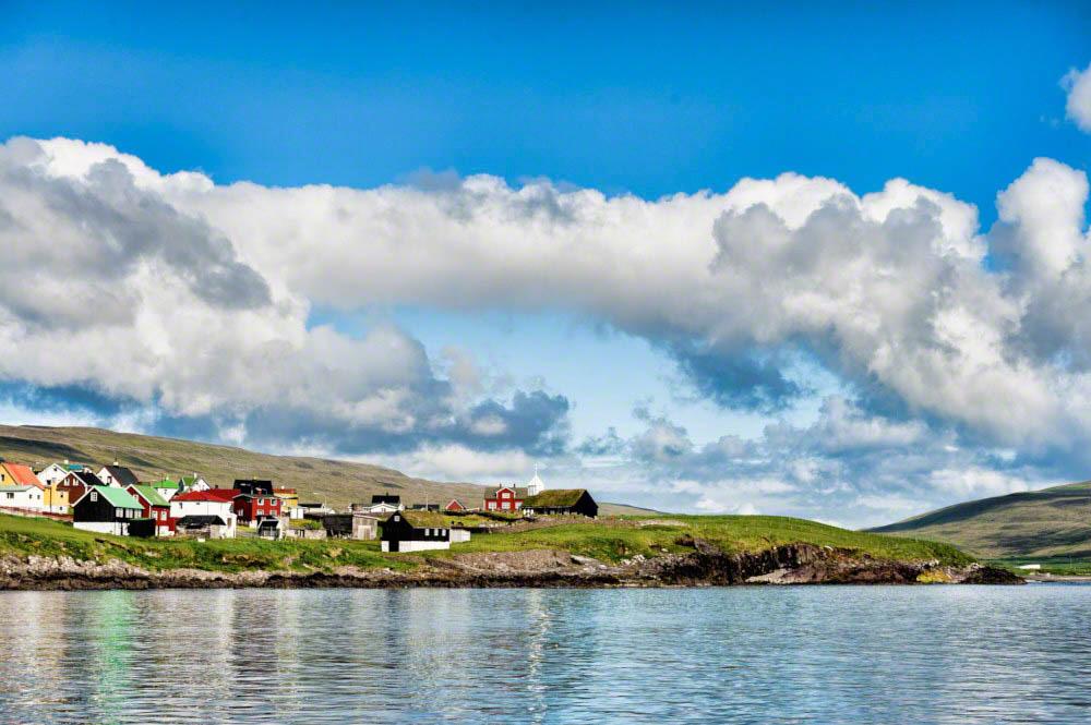 The village Sandur on Sandoy Island