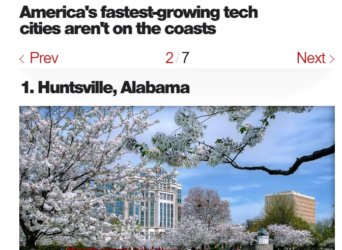 1  Huntsville  Alabama   Americas fastest growing tech cities arent on the coasts   CBS News.png