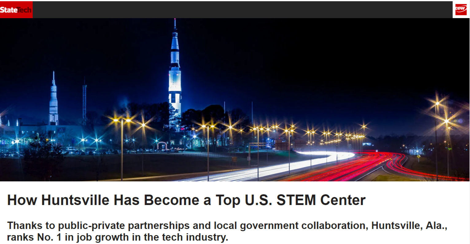 Fastest Growing Tech Hub City in the US  Huntsville  AL Tech Growth   StateTech.png