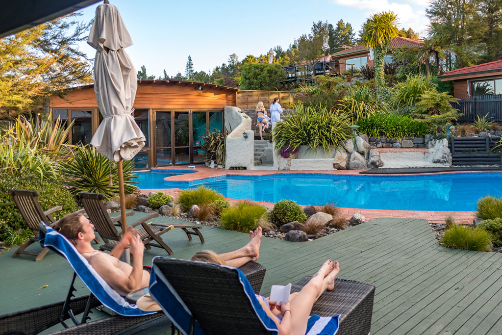Enjoy Kimi Ora's beautiful spa and pool facilities