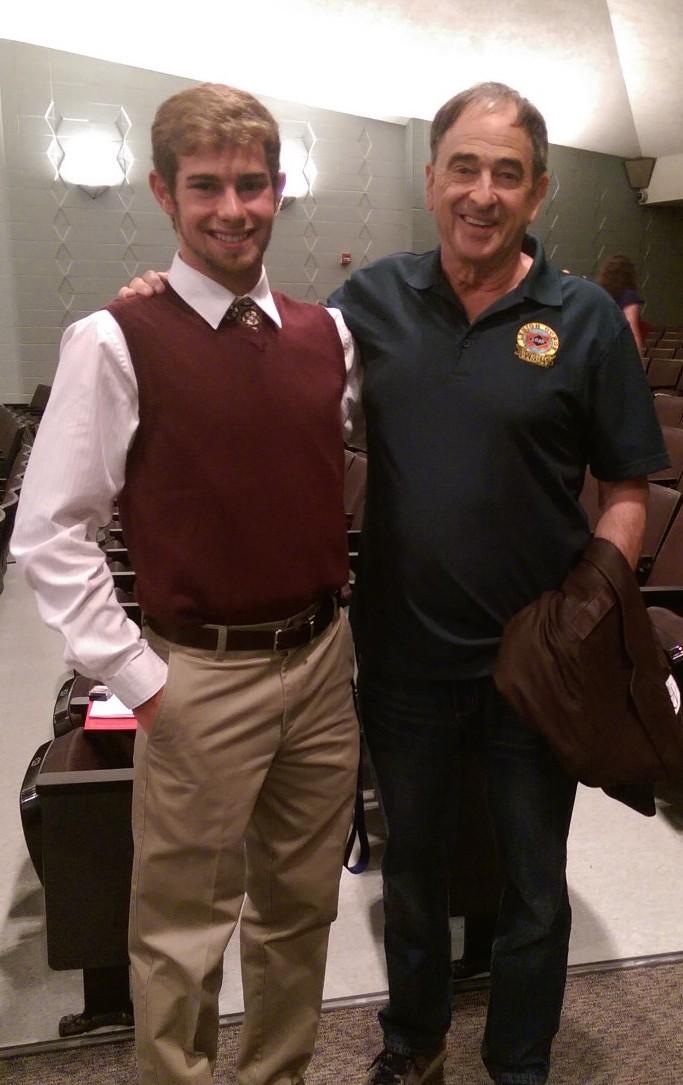 Andrew Muller, Jr. with Hamburg Area High School Senior, Charlie Cravotta.