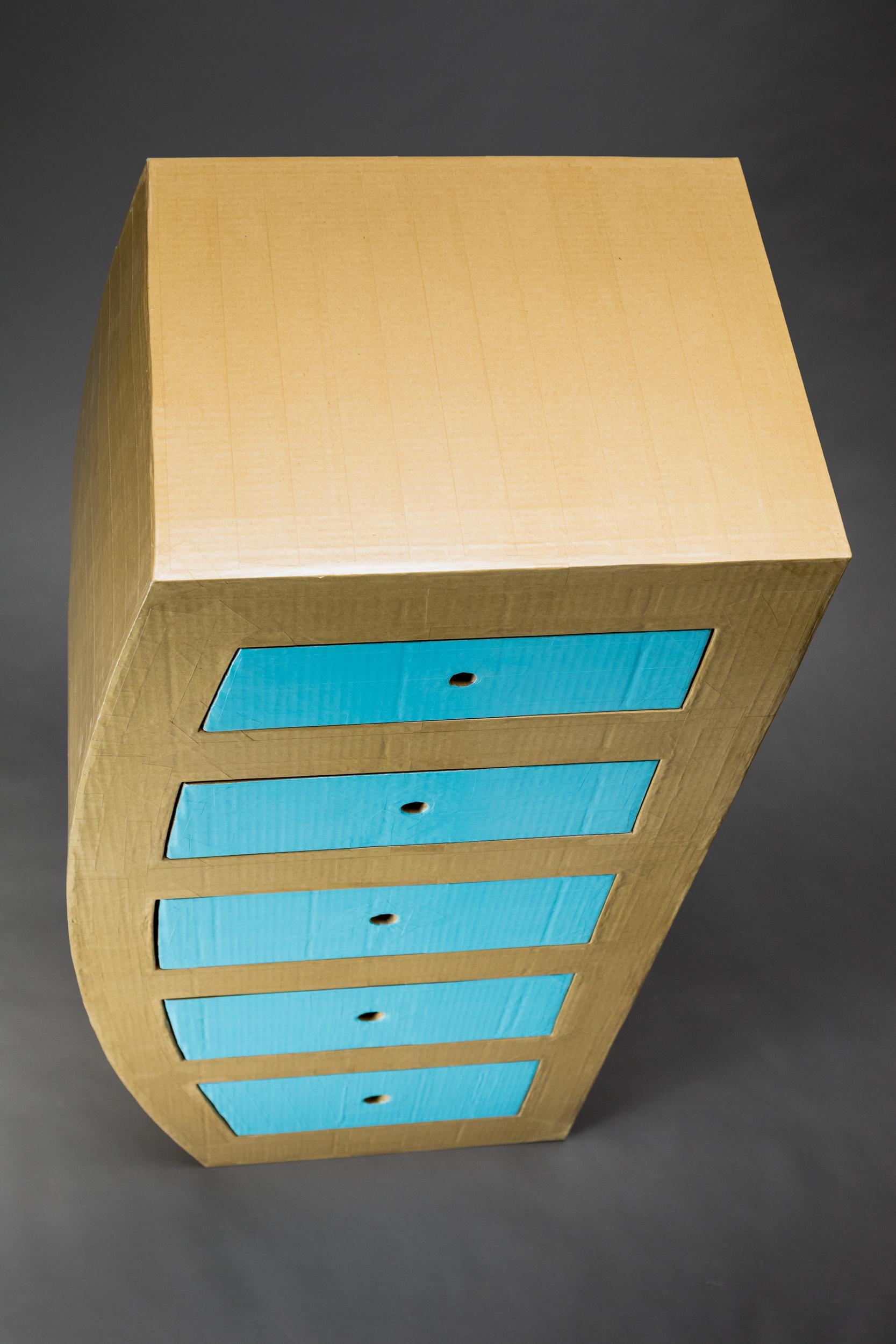 Cardboard dresser