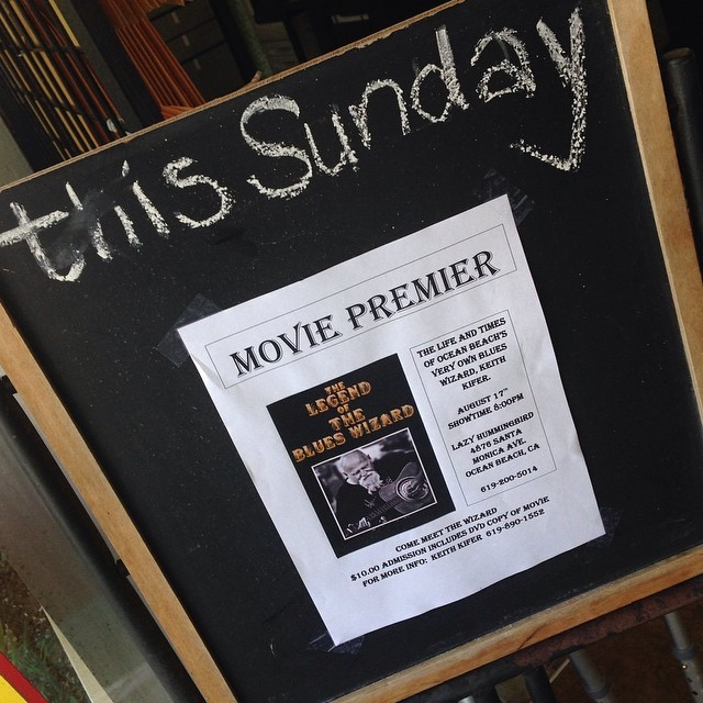 Legend of The Blues Wizard movie Sunday at The Lazy Hummingbird.