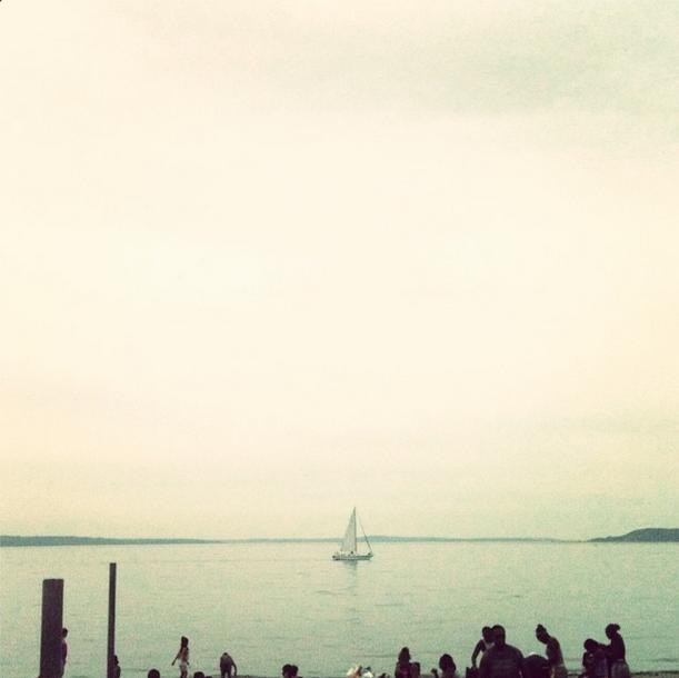 Alki beach via Instagram