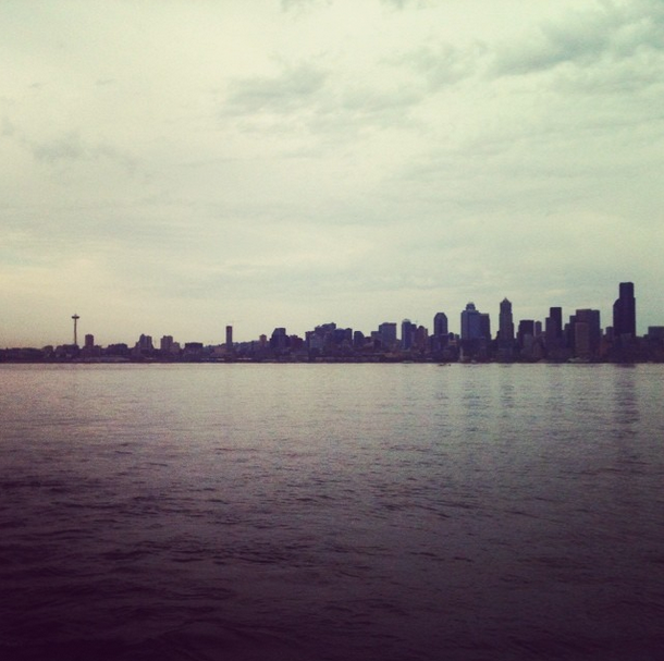 Seattle skyline seen from the ferry