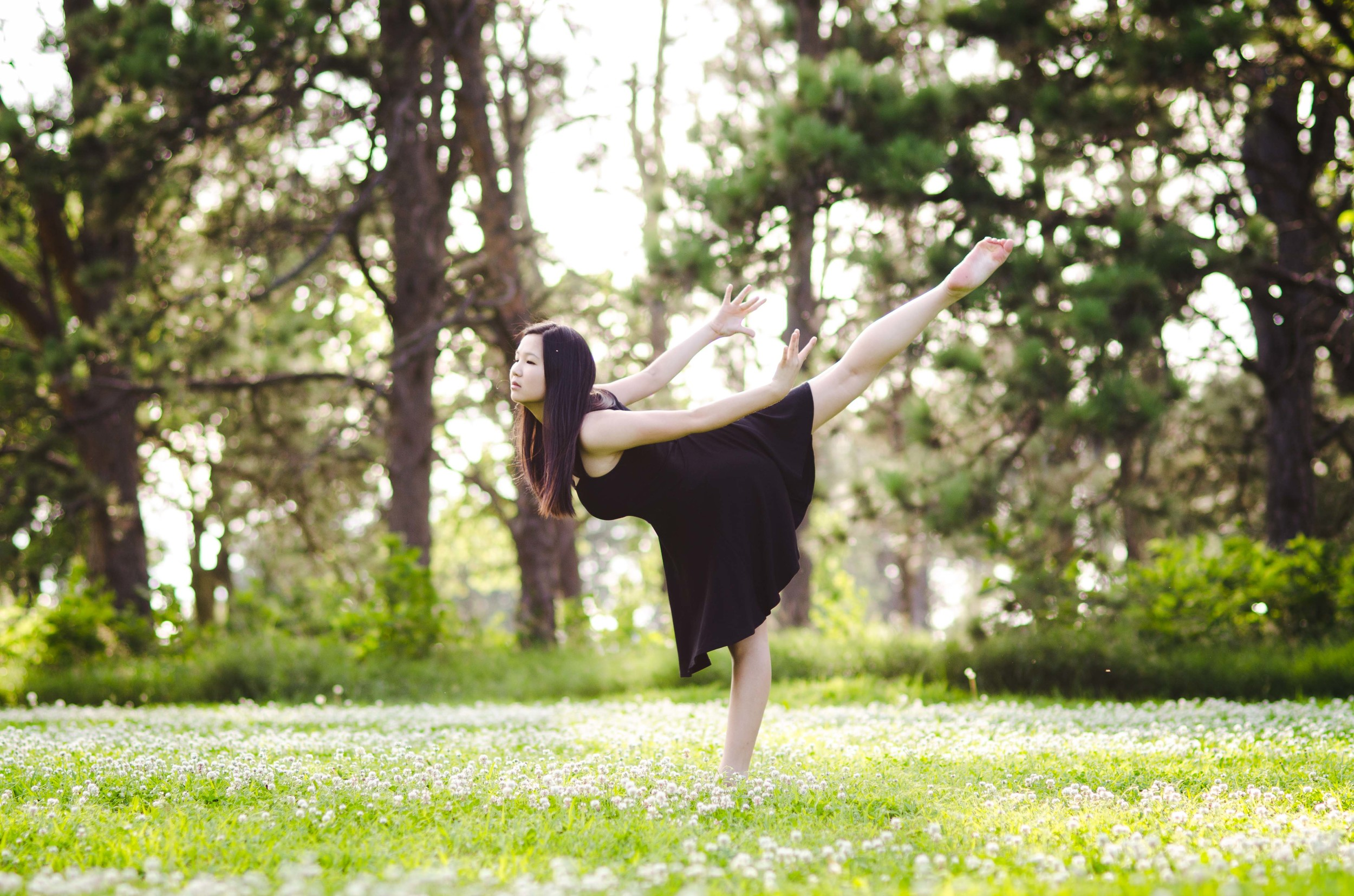 // Casual gymnast.