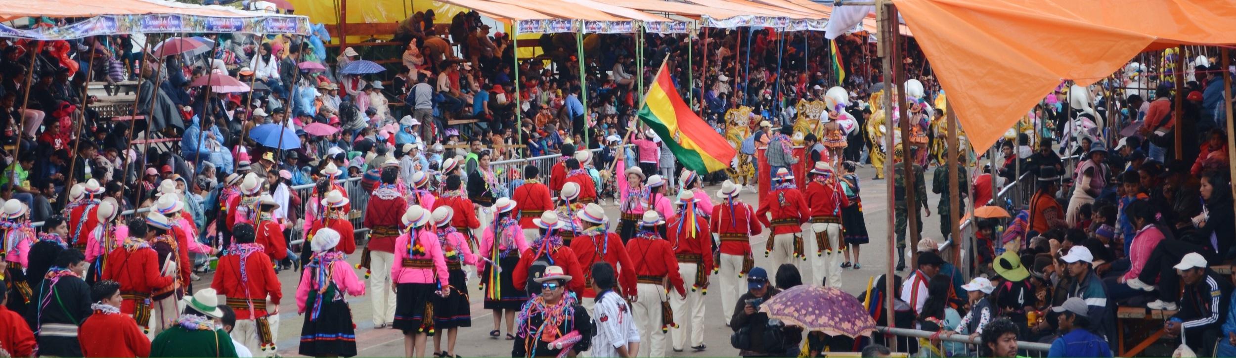 Waving the Bolivian flag // 15 february 2015