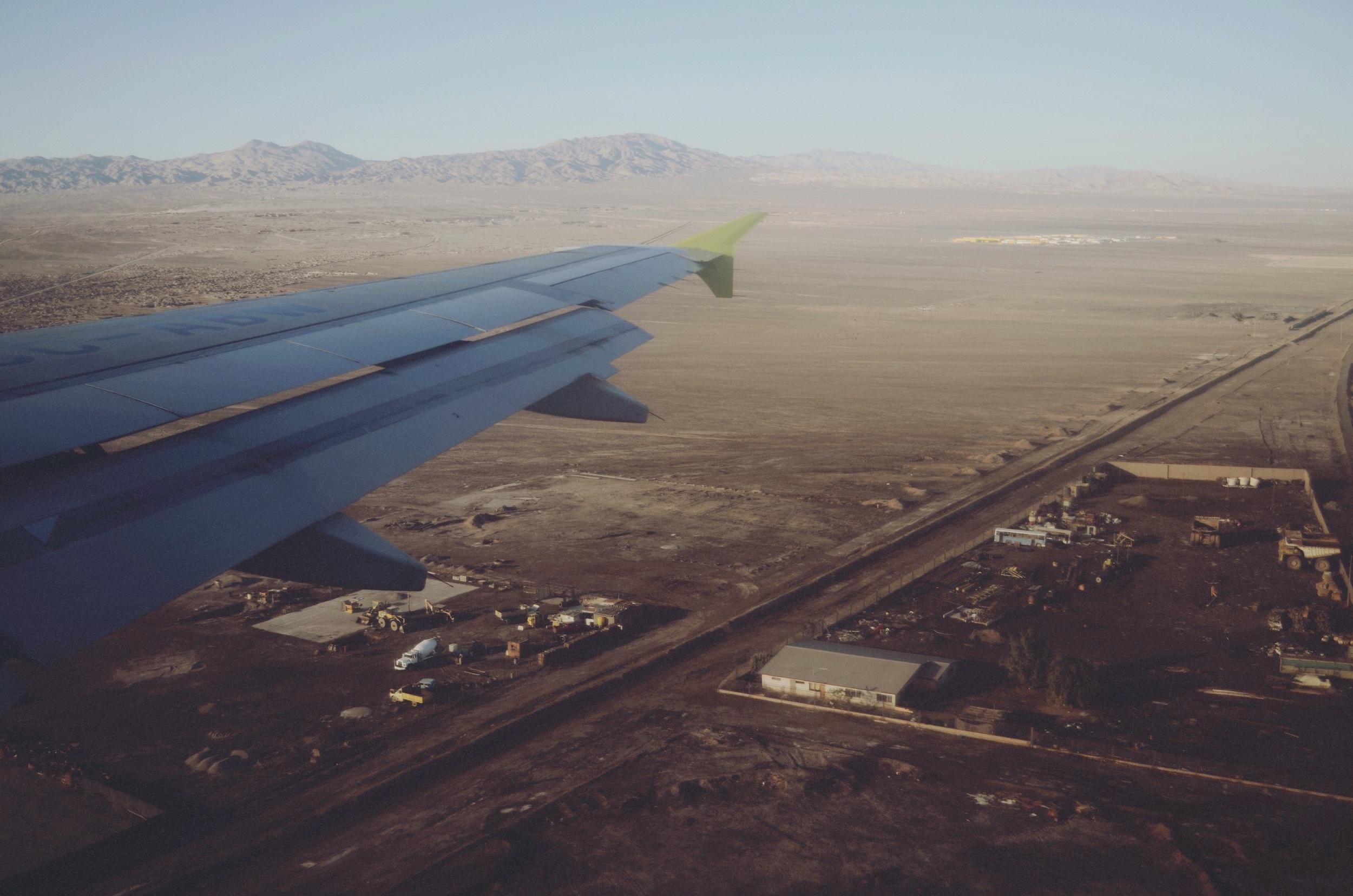 Landing in Calama, Chile // 16 april 2015