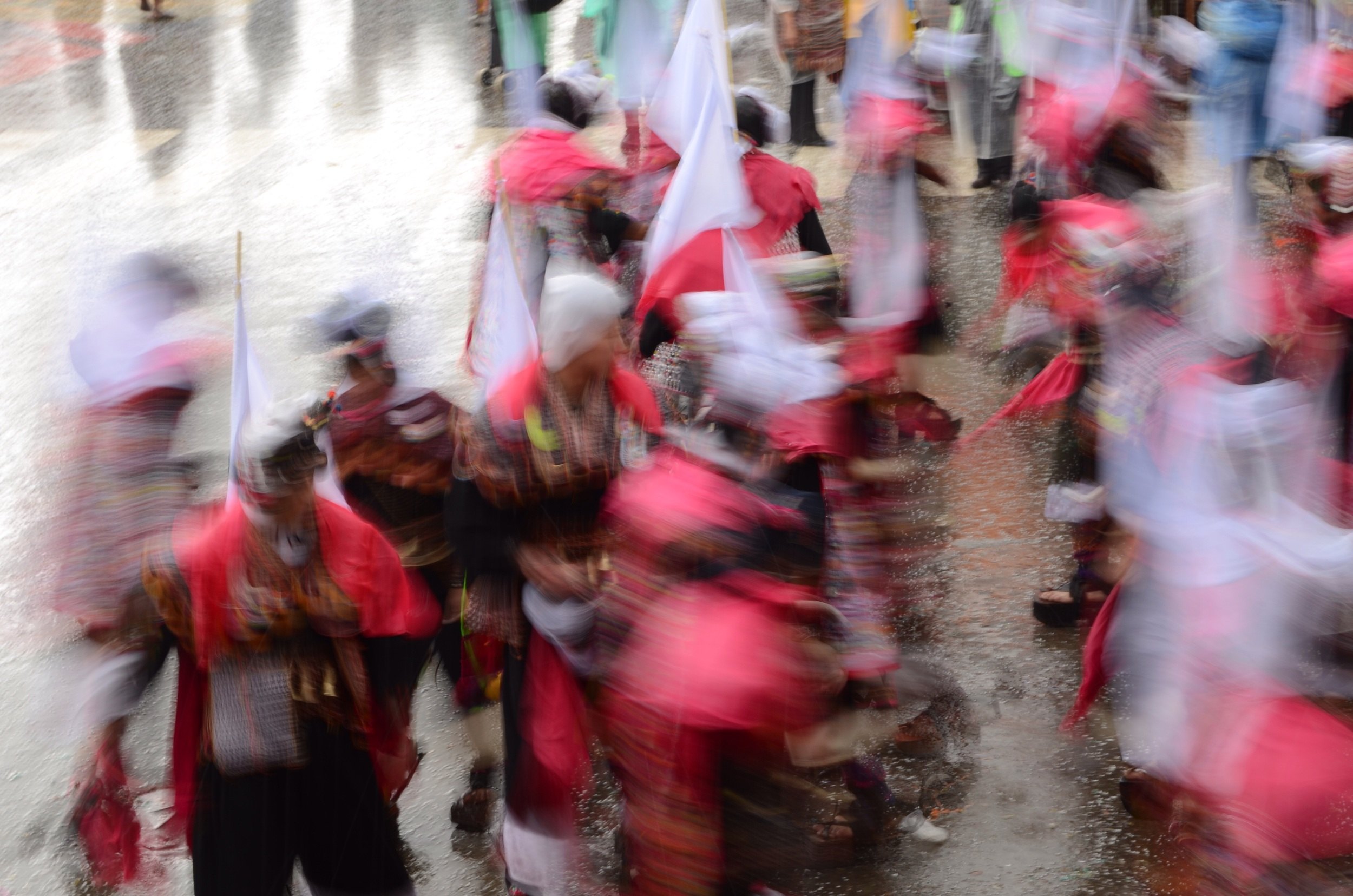 Movement of dancers caught in the rain // 15 february 2015
