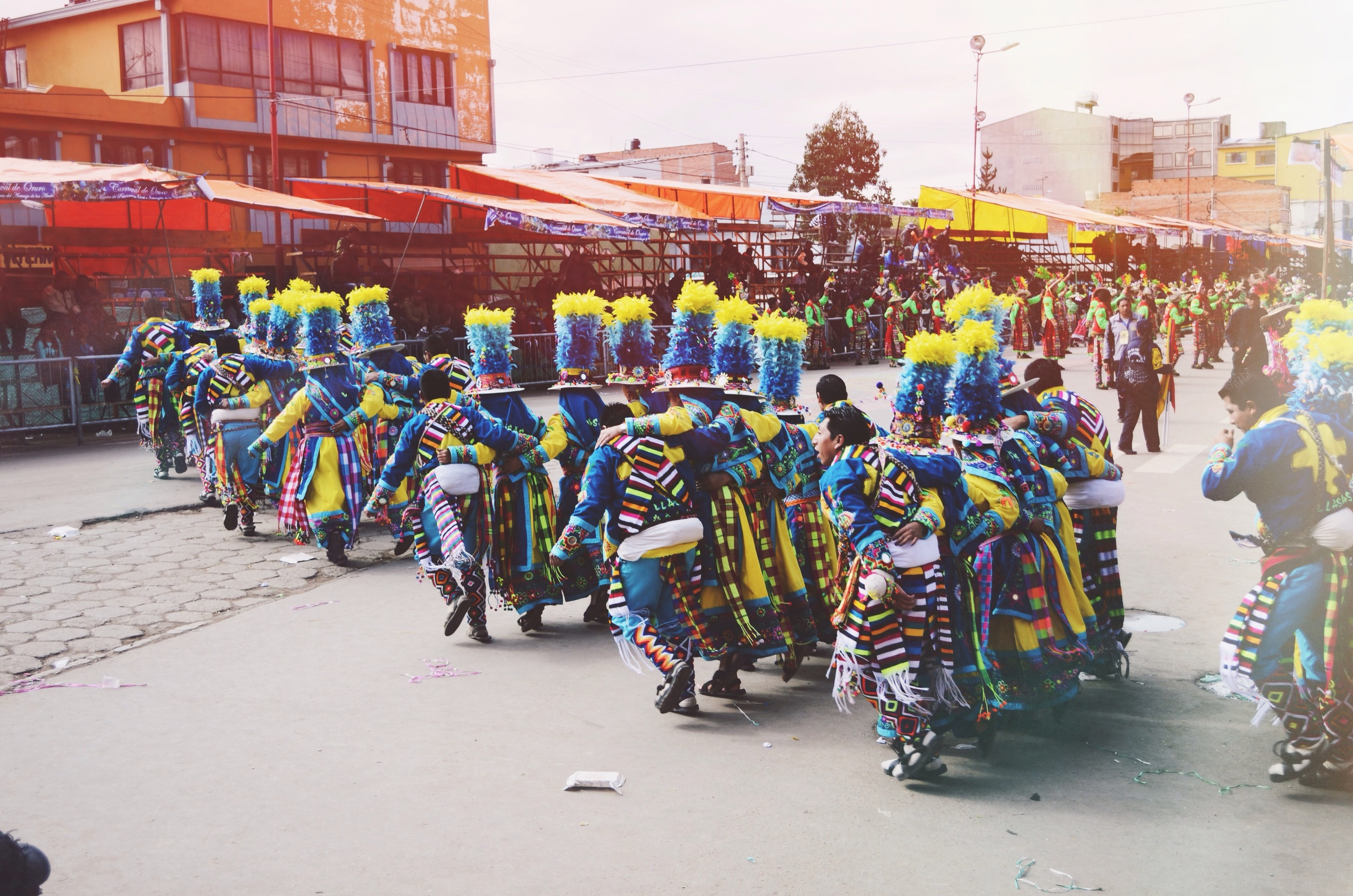 Tinku dancers on Sunday morning...the stands were pretty empty at this point because a lot people were hungover. Some of the performers were clearly hungover as well, ouch. // 15 february 2015